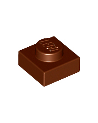 LEGO® Plate 1x1 reddish brown