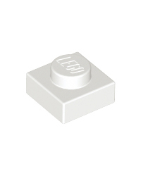 LEGO® Plaat  plate 1x1 wit