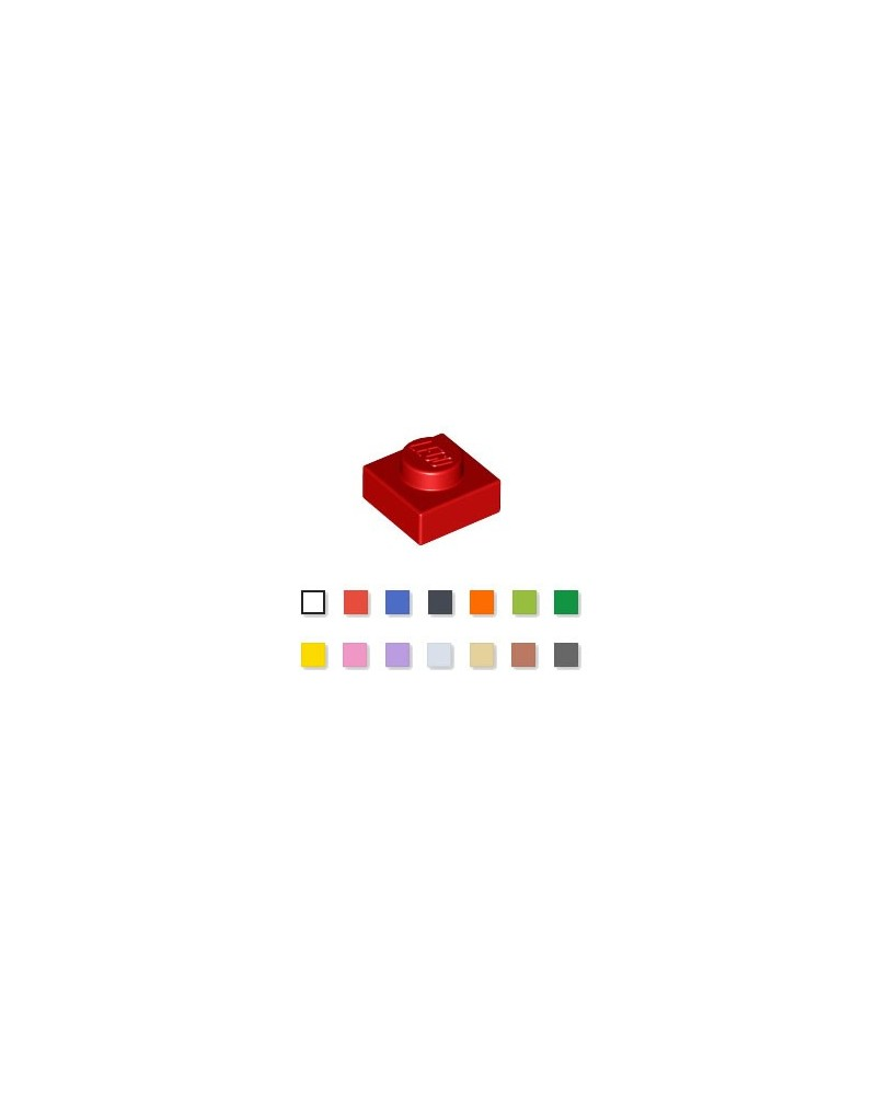 LEGO® Plaat  plate 1x1 rood