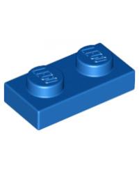 LEGO® Plaat plate 1x2 blauw