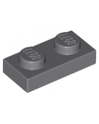 LEGO® Plaque plate 1x2 gris