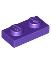 LEGO® Plaat plate 1x2  donkerpaars
