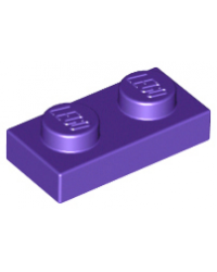 LEGO® Plaque plate 1x2 mauve