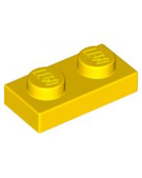 LEGO® Plaat plate 1x2  geel