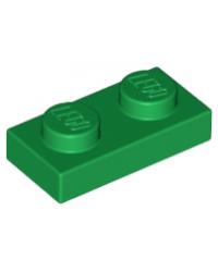 LEGO® Plaat plate 1x2 groen