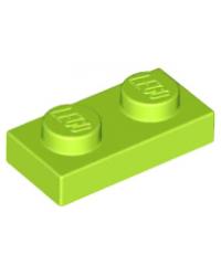 LEGO® Plaat plate 1x2 lime groen