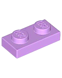LEGO® Plaat plate 1x2 medium lavendel