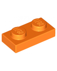 LEGO® Plaque plate 1x2 orange