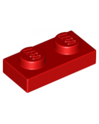 LEGO® Plaat plate 1x2 rood