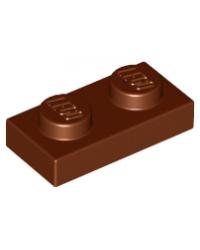 LEGO® Plaat plate 1x2 bruin