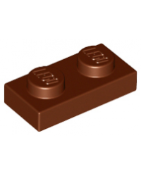 LEGO® Plaque plate 1x2 brun marron