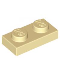 LEGO® Plaat plate 1x2 tan