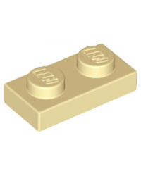 LEGO® Plaque plate 1x2 tan