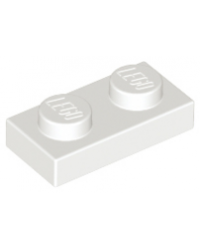 LEGO® Plaat plate 1x2 wit