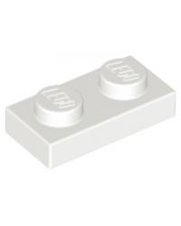 LEGO® Plaque plate 1x2 blanc