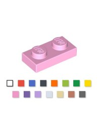 LEGO® Plaque plate 1x2 rose