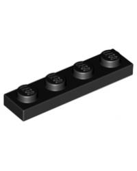 LEGO® Plaat plate 1x4 zwart