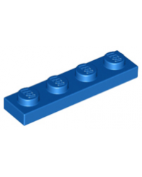 LEGO® Plaat plate 1x4 blauw