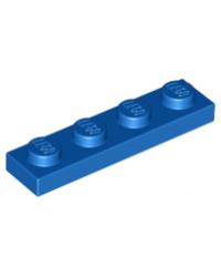 LEGO® Plate plaque 1x4  bleu