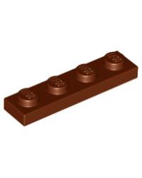 LEGO® Plate plaque 1x4 brun marron