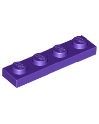 LEGO® Plaat plate 1x4 donker paars