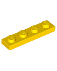 LEGO® Plate plaque 1x4 jaune