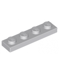 LEGO® Plate plaque 1x4 gris