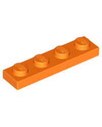 LEGO® Plaat plate 1x4 oranje