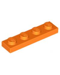 LEGO® Plate plaque 1x4 orange