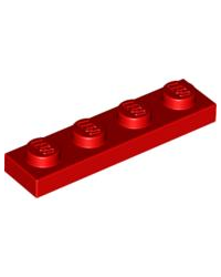 LEGO® Plaat plate 1x4 rood