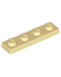 LEGO® Plate plaque 1x4 tan