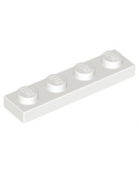 LEGO® Plaat plate 1x4 wit