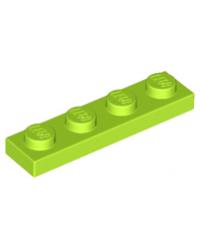 LEGO® Plaat plate 1x4 lime groen