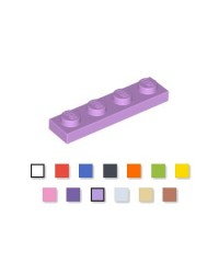 LEGO® Plate plaque 1x4 medium lavende