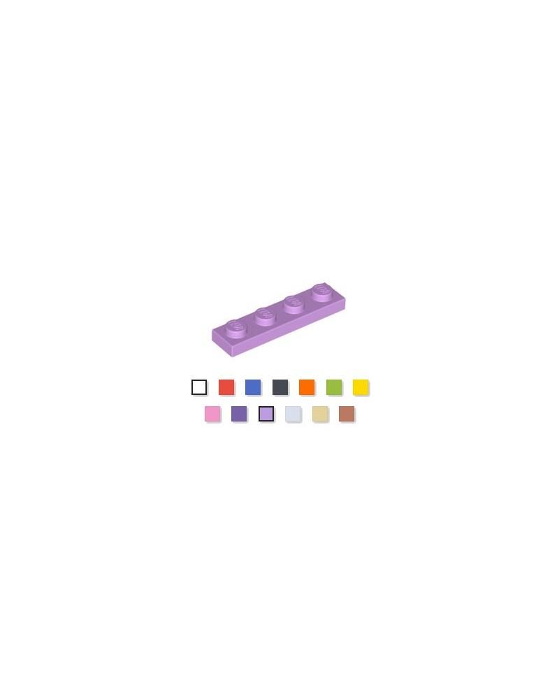 LEGO® Plate plaque 1x4 medium lavende
