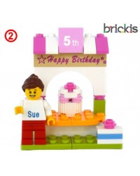 LEGO® Kuchen Topper Geburtstag
