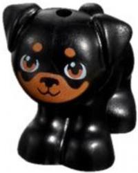 LEGO® Friends mopshond zwart met vlekken Apollo 24111pb02