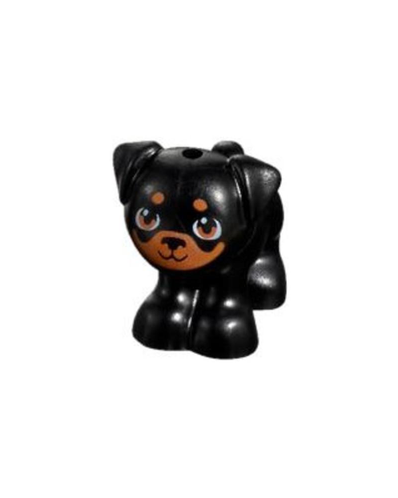LEGO® Friends Schwartze Hund Apollo Mops 24111pb02