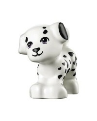 LEGO® Friends witte hond zwarte stippen puppy Cookie