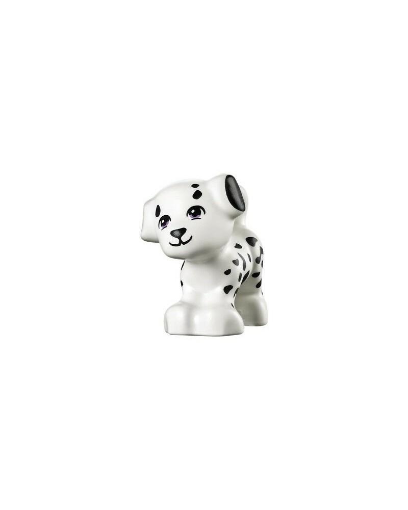 LEGO® Friends weißer Hund schwarzer Flecke Welpe Cookie