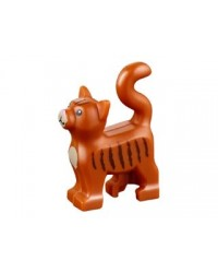LEGO® Friends brown cat black stripes 13786pb02