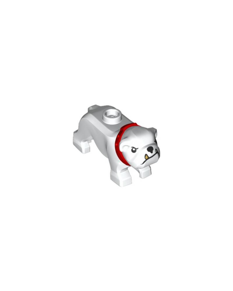 LEGO® City Dog Bulldogge weiß mit rotem Halsband 65388pb01