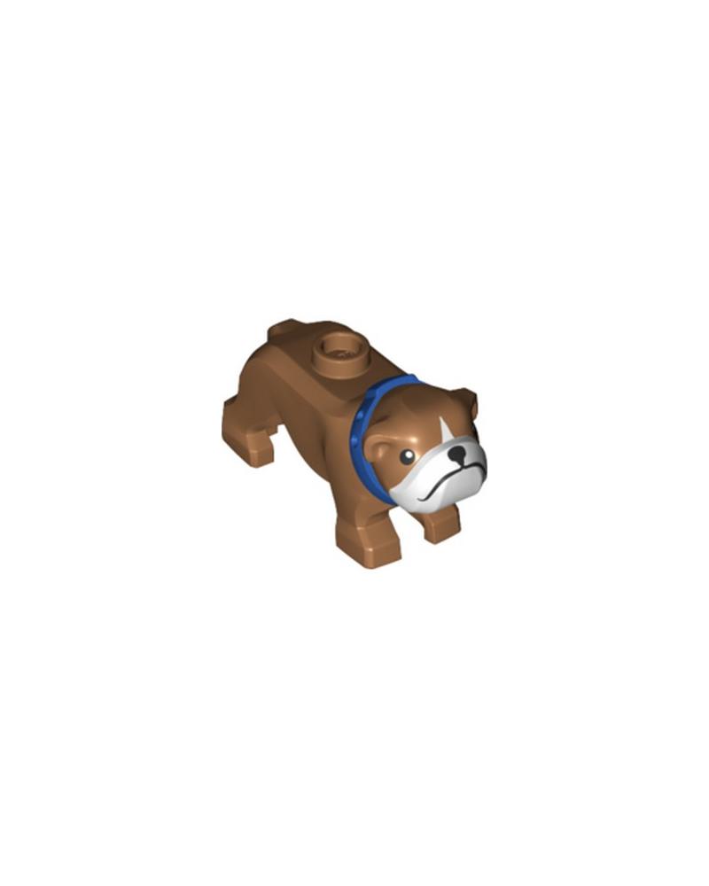 LEGO® City Dog Bulldogge Braun mit Blaues Halsband