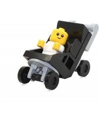 Minifigura LEGO® 45022 bebé (difícil de encontrar) + cochecito
