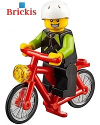 LEGO® minifigure child on his bike + accessories