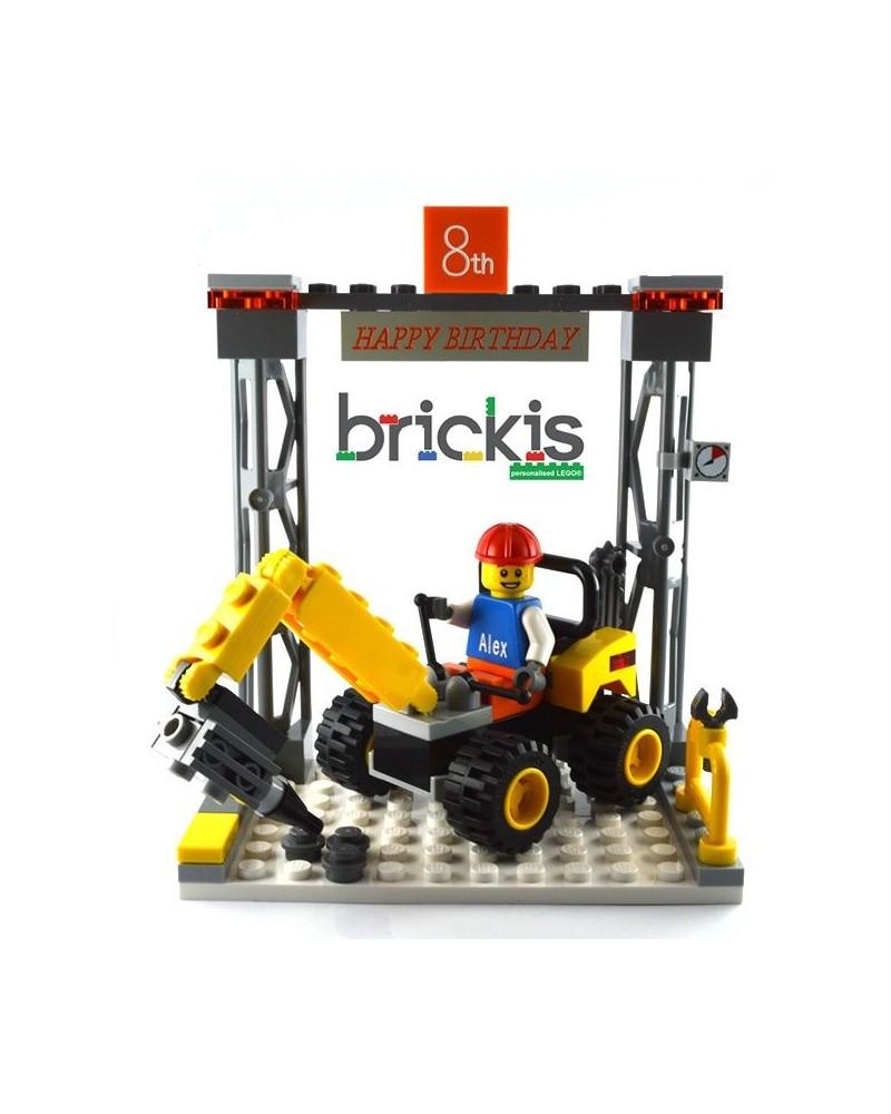 Lego Crane Cake Topper Birthday