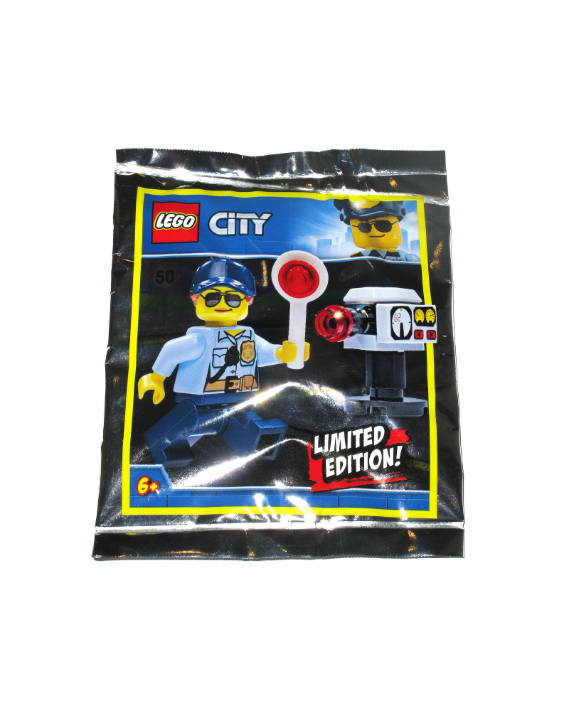Polybag LEGO® minifiguur POLITIE+ accessoires snelheidscontrole  951910