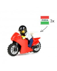 Motard de livraison de pizza polybag LEGO® City Edition limitée 951909