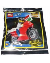 Polybag LEGO® City Pizza Lieferung Biker Limited Edition + Zubehör 951909