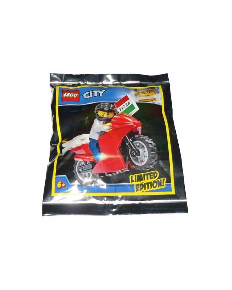 Polybag LEGO® City Pizza delivery biker set limited edition + accessories 951909